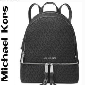 Michael Kors Rhea Signature Zip Backpack Hangbag
